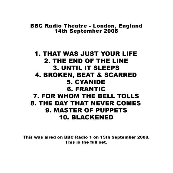 BBC - Radio 1 Presents Metallica