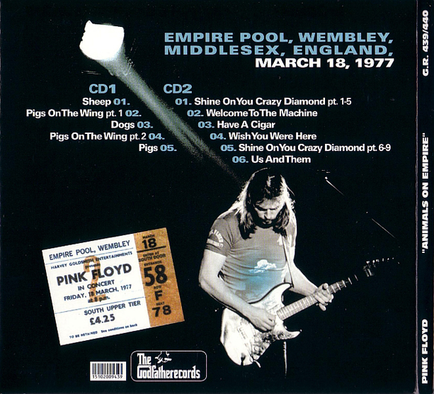 Roio Blog Archive Pink Floyd Empire Pool 1977