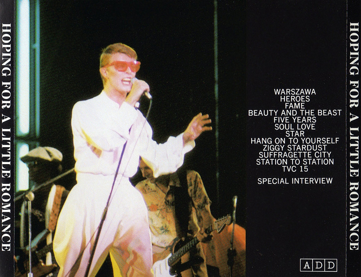 Image result for DAVID BOWIE HOPING FOR A LITTLE ROMANCE