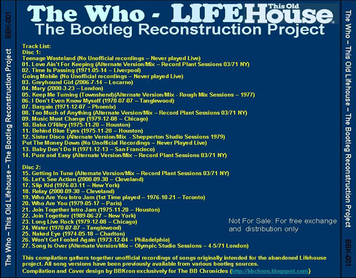 roio » Blog Archive » THE WHO - LIFEHOUSE RECONSTRUCTED