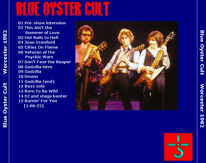 Roio 187 Blog Archive 187 Blue Oyster Cult Worcester 1982