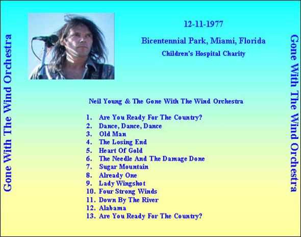 Roio Blog Archive Neil Young Miami 1977