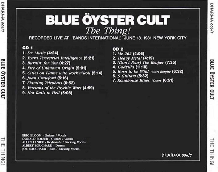 Image result for blue oyster cult live new york 1981