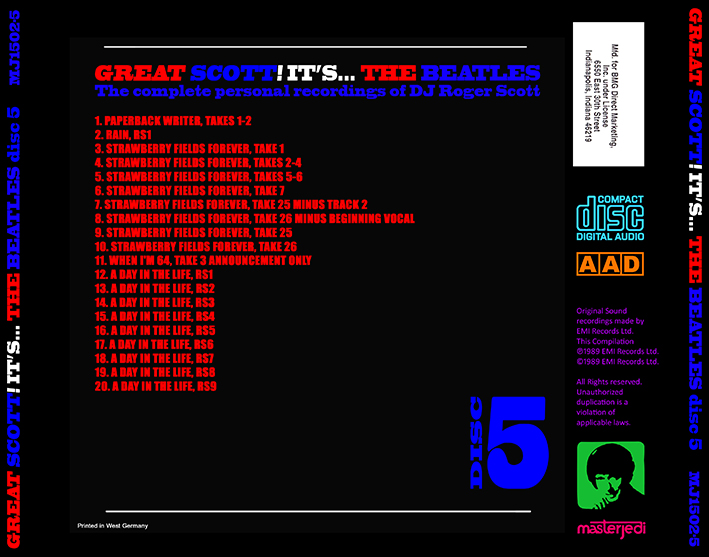 roio » Blog Archive » THE BEATLES - GREAT SCOTT! (CD 5 AND 6)