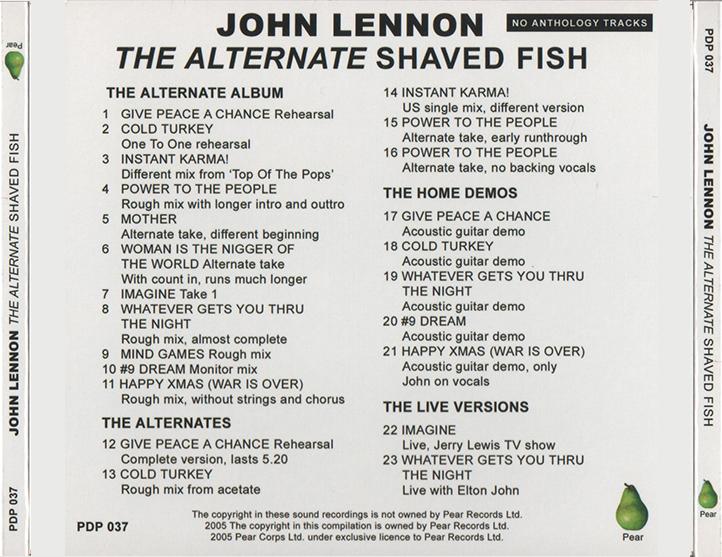 Roio blog archive john lennon the alternate shaved fish for John lennon shaved fish