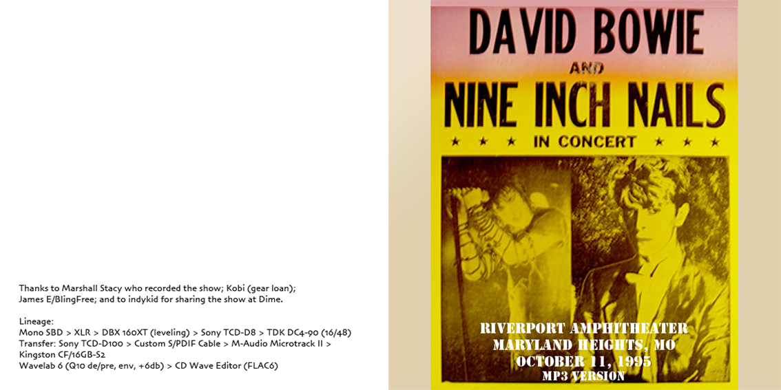 roio » Blog Archive » NINE INCH NAILS AND DAVID BOWIE - MARYLAND ...