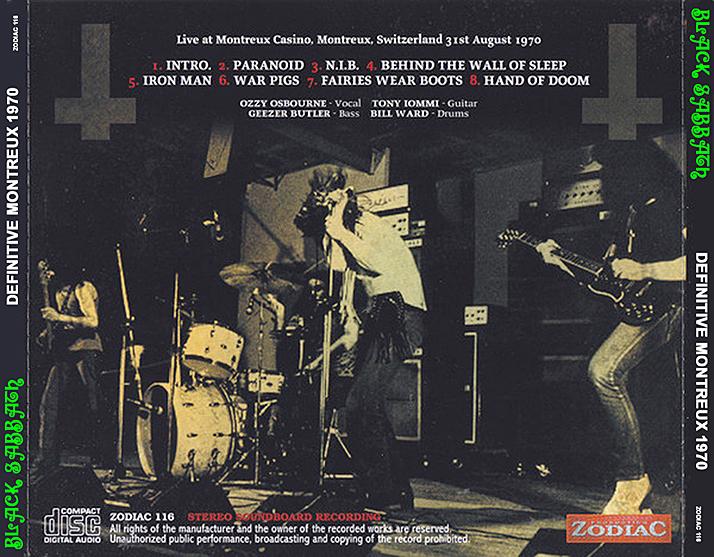 Roio 187 Blog Archive 187 Black Sabbath Montreux 1970