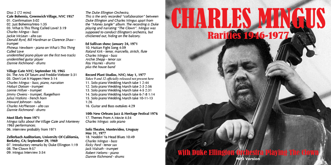 Roio Blog Archive Jazz On New Years Day Charles Mingus