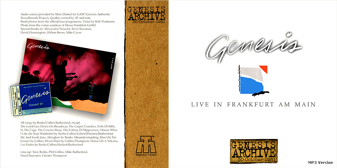 Click on the panels for a better view or to download jpg artwork. GENESIS