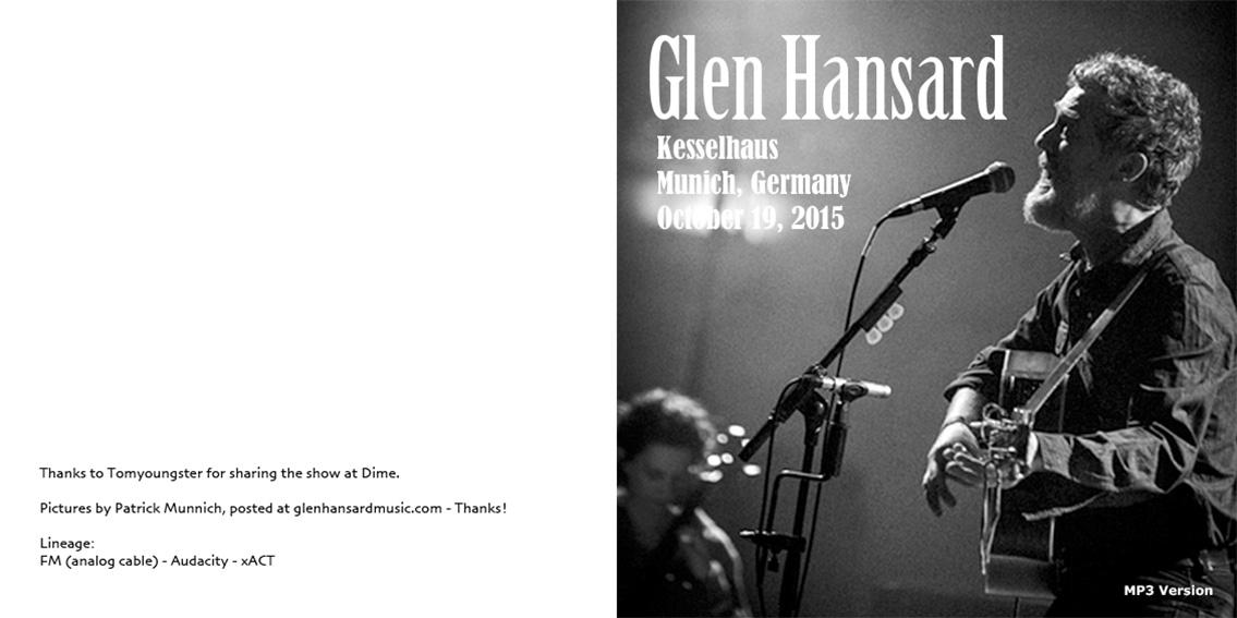 Lyric high hope lyrics glen hansard : roio » Blog Archive » GLEN HANSARD - MUNICH 2015