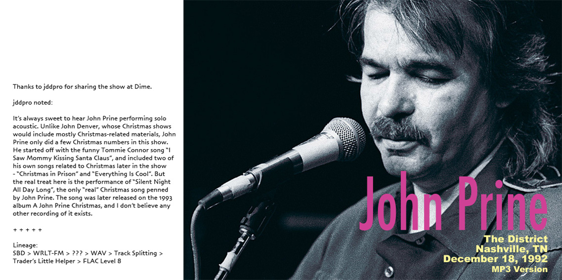 roio » Blog Archive » JOHN PRINE - CHRISTMAS 1992
