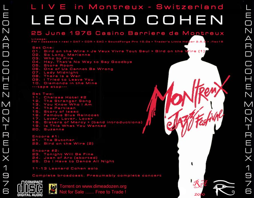 Leonard cohen casino montreux 1976