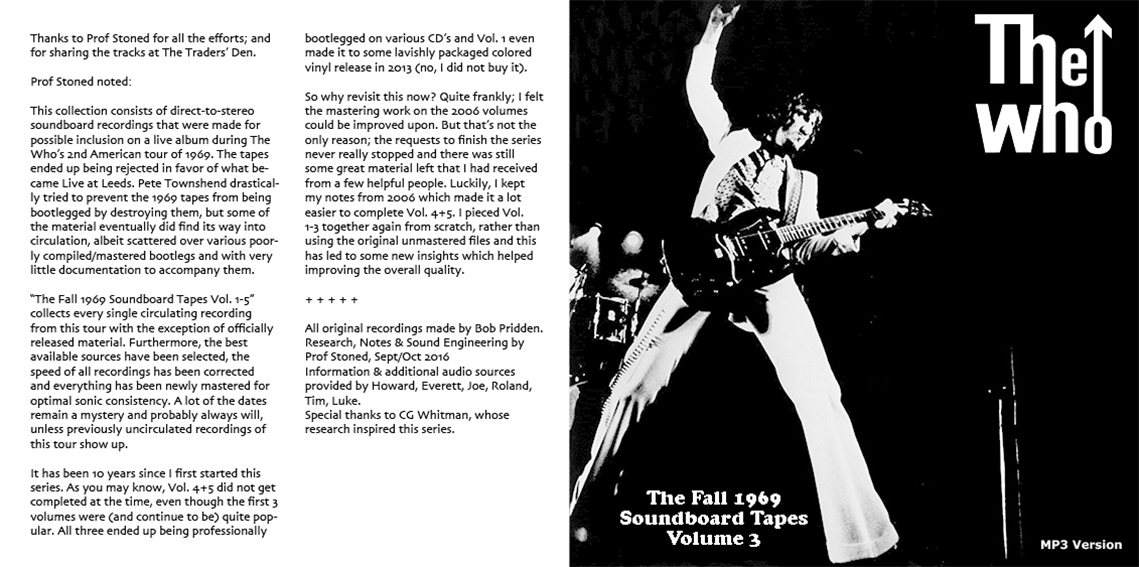 roio » Blog Archive » THE WHO - THE FALL 1969 SOUNDBOARD TAPES VOL 3
