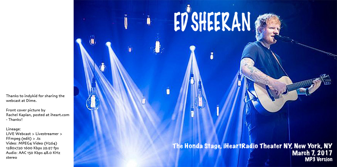 roio » Blog Archive » ED SHEERAN - NEW YORK 2017