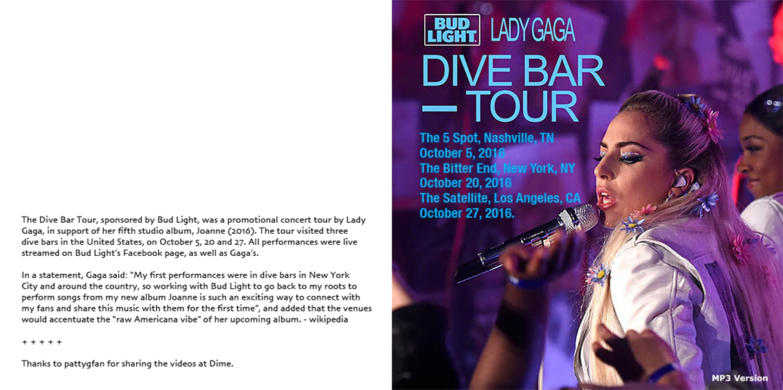 roio » Blog Archive » LADY GAGA - DIVE BAR TOUR 2016