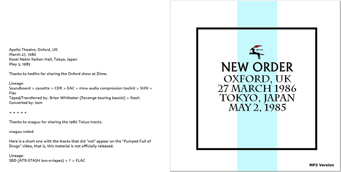 roio » Blog Archive » NEW ORDER - OXFORD 1986 / TOKYO 1985