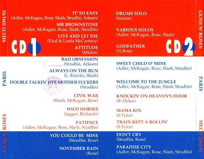roio » Blog Archive » GUNS N' ROSES - PARIS 1992