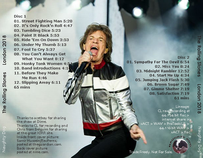 roio » Blog Archive » THE ROLLING STONES - LONDON, MAY 22, 2018