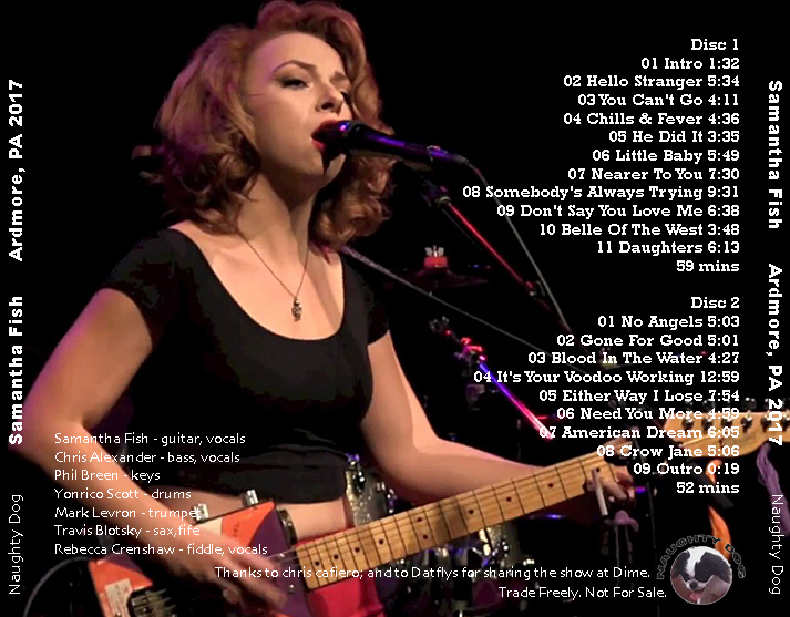 Roio blog archive samantha fish ardmore pa 2017 for Samantha fish chills and fever