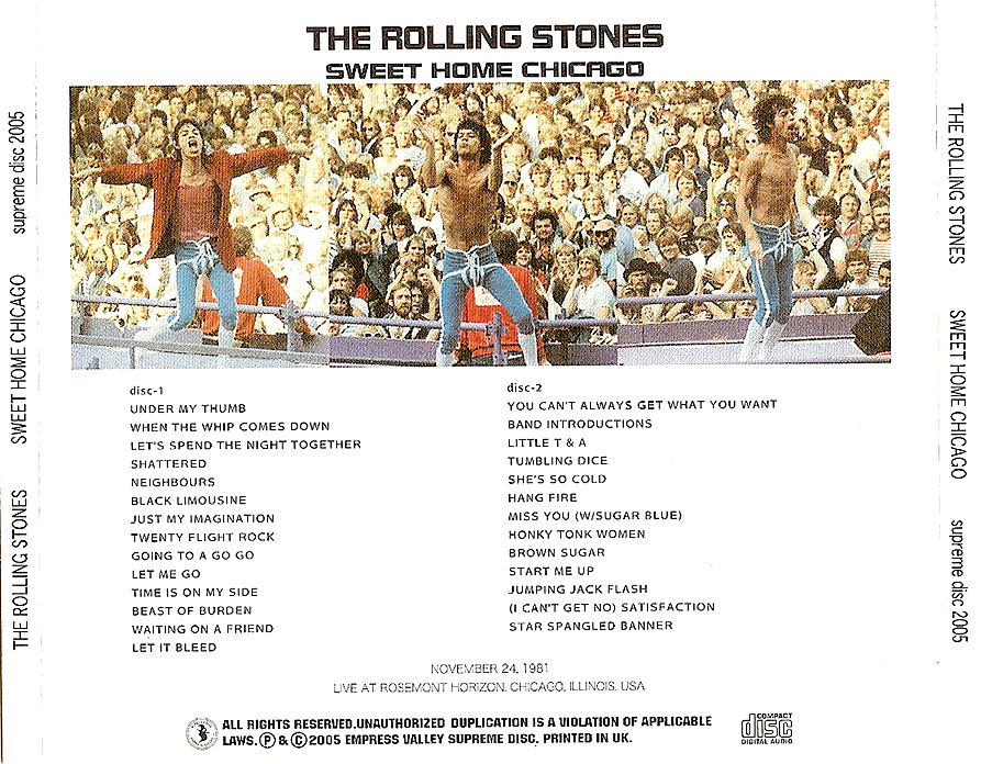roio » Blog Archive » THE ROLLING STONES - CHICAGO 1981